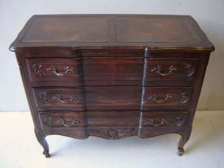 Antique French Country Mahogany Chest As/3106 photo