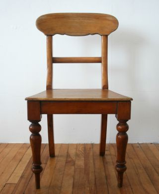 Antique Victorian Chair Solid Oak & Beech Farmhouse Dining photo