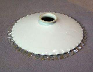 Vintage French Piecrust Glass Shade photo