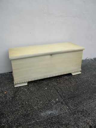 Vintage Mid - Century Painted Cedar Chest By Lane 2748 photo
