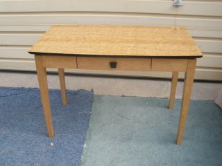 48635 Modern Maple Library Table Desk W/ Drawer photo