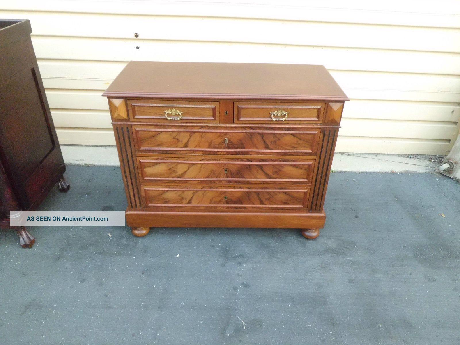 antique walnut dresser chest cabinet