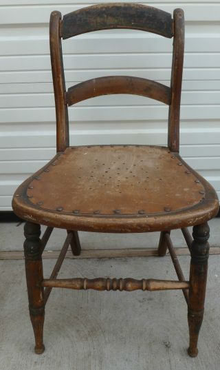 4 Antique Solid Wood Chair 32.  5