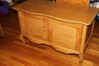 Antique Oak 2 Door Sideboard Cabinet photo