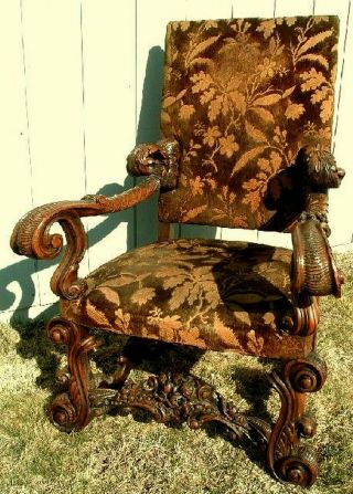 Antique Venetian Armchair 1890 Walnut Venice Italy Italian photo