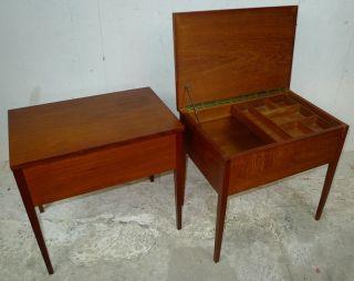 Modern Danish Design - Two X Sewing Tables/ Nightstands - Wegner,  Panton Era photo