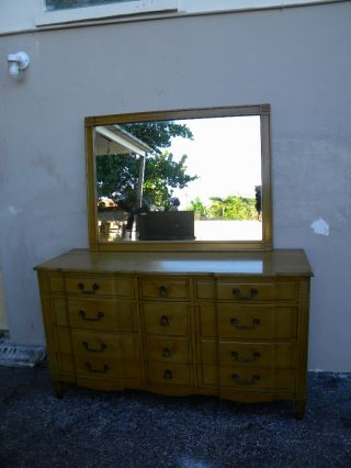 Mid Century Mahogany Dresser With Mirror By Kling 1547 photo