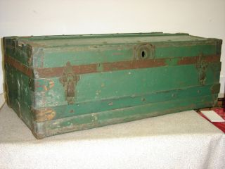 Antique Green Trunk 34.  25