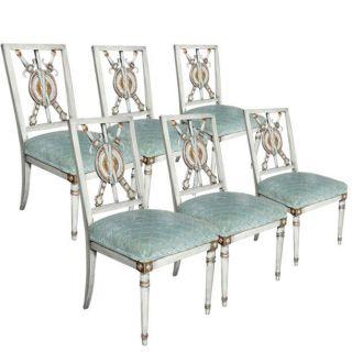Set Of Six Maison Jansen Dining Chairs photo