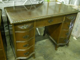 Mahogany Rope Carved Desk photo
