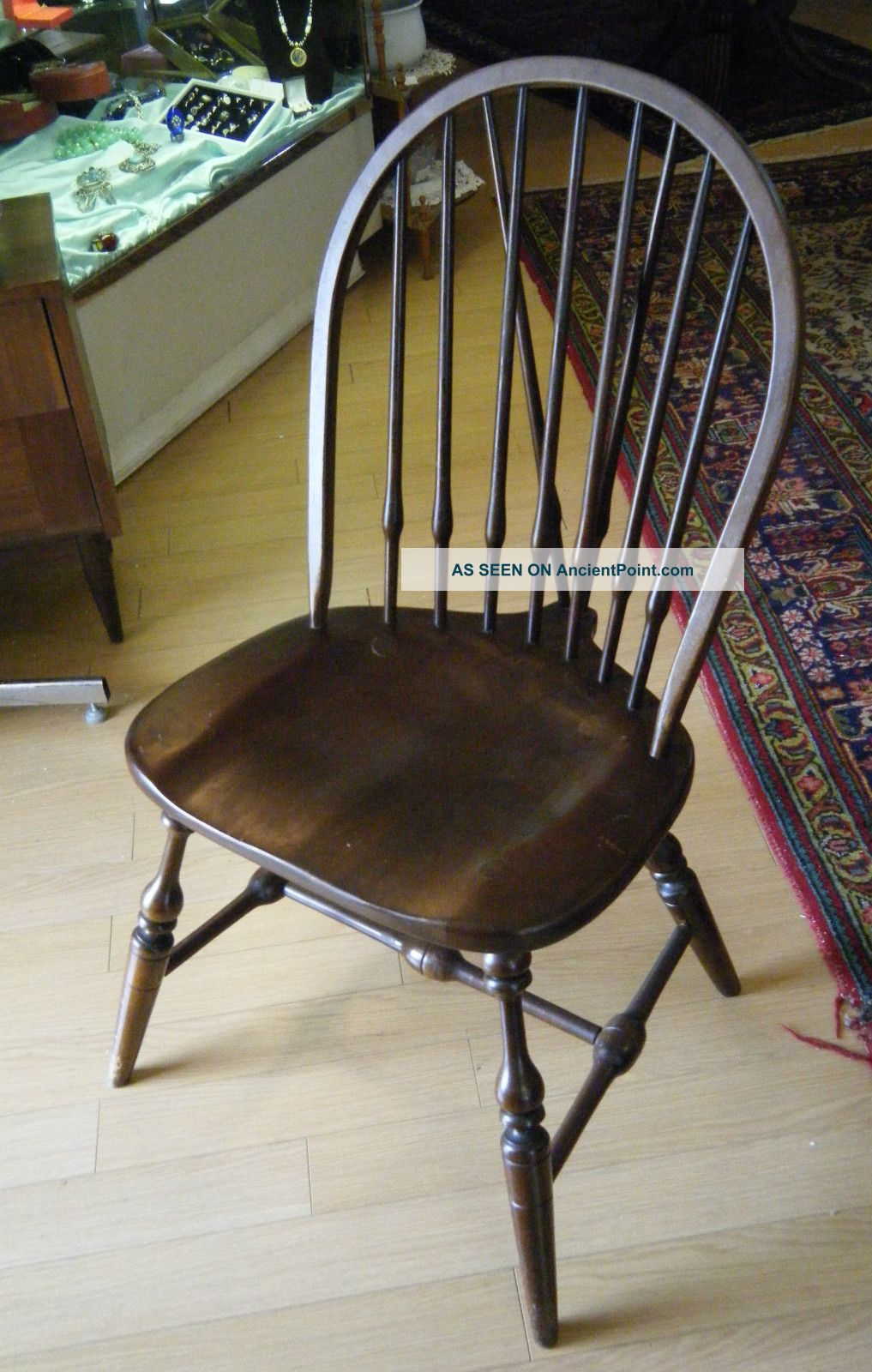 & Antique Windsor Crocker Style Chair Arm Chair Mahogany Spindle
