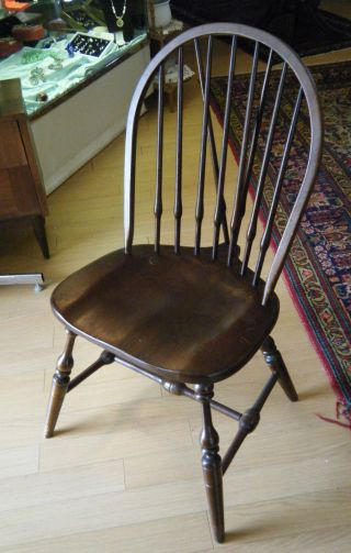 Antique Windsor Crocker Style Chair Arm Chair Mahogany Spindle photo