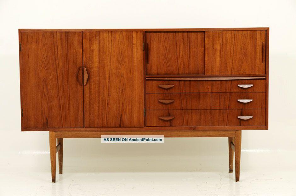 Danish Modern Amazing Teak Buffet Cabinet Post-1950 photo