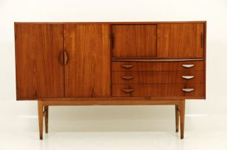 Danish Modern Amazing Teak Buffet Cabinet photo