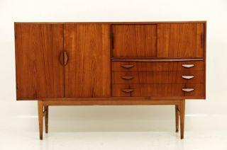 Danish Modern Amazing Teak Buffet Cabinet photo
