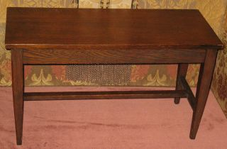 Antique Solid Oak Piano Organ Hinged Lift Top Bench W/original Finish Ca 1890s photo
