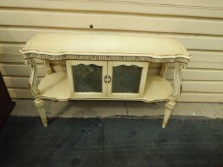 50896 Decorator Shabby 2 Sided Buffet Library Table Sofa Stand photo