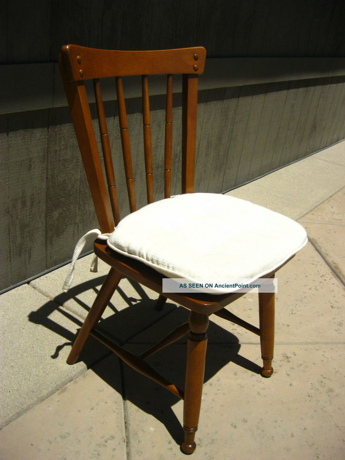 Picture of: Vintage Ethan Allen Computer Desk Chair Side Accent French Country Style