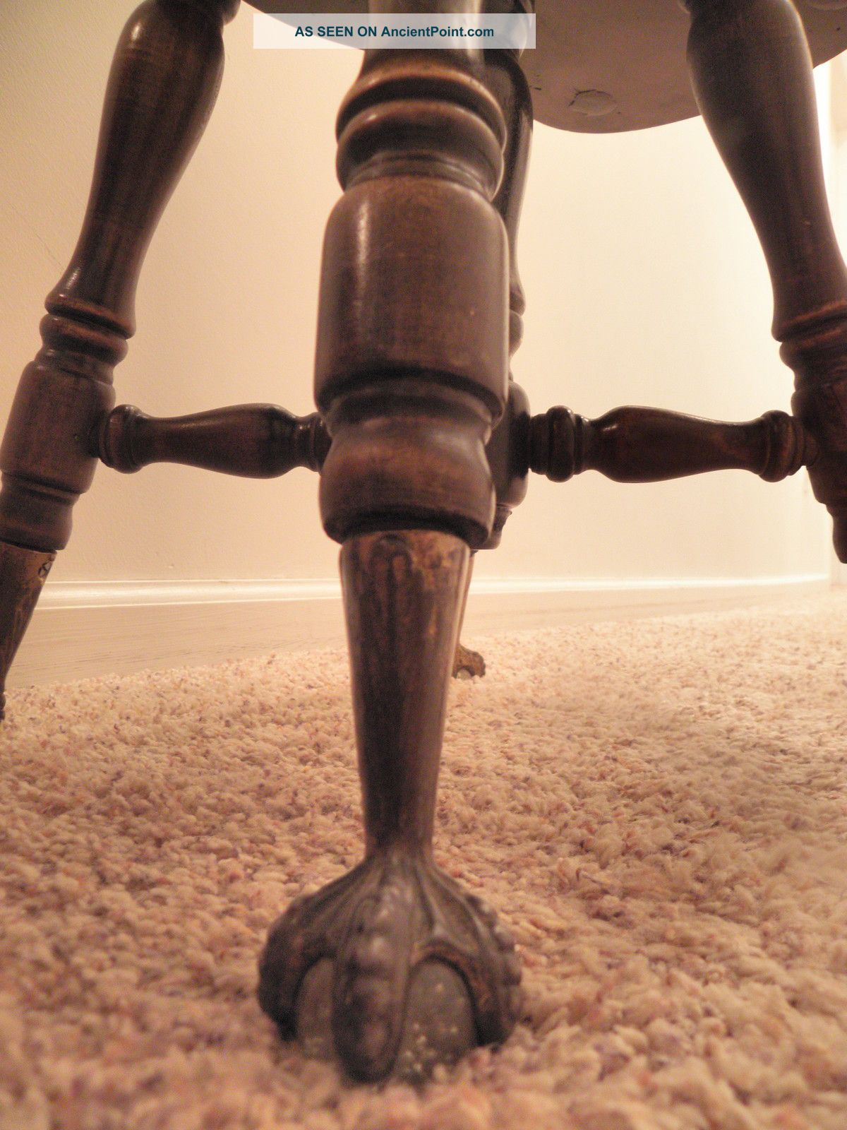 Antique Piano Stool With Back Images