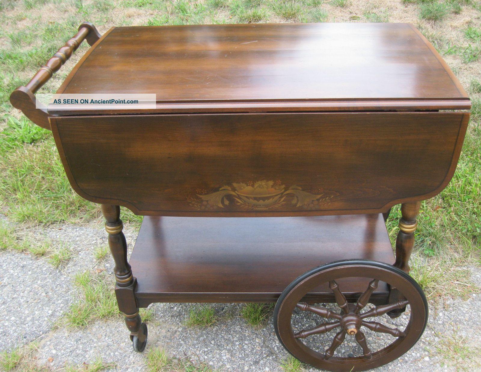 Signed + Stenciled Hitchcock Furniture Co.  Tea Cart / Server Post-1950 photo