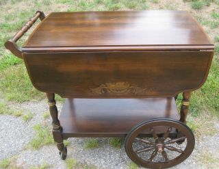 Signed + Stenciled Hitchcock Furniture Co.  Tea Cart / Server photo