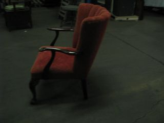Vintage/antique Parlor Type Chair Orange In Color With Hardwood photo