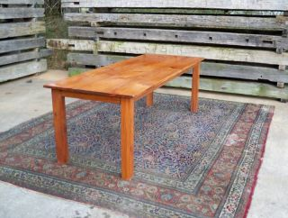 Antique (re - Claimed Wood) Heart Pine Farm Table photo