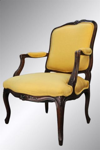 15869 Antique French Walnut Victorian Arm Chair photo