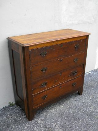 1800 ' S Early American Pine Dresser 1132 photo