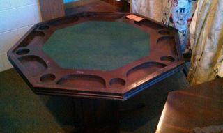 Reversible Vintage Poker Table photo