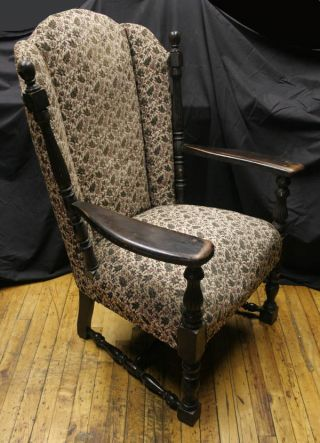 Baroque Victorian William & Mary Style North American Black Walnut Arm Chair photo