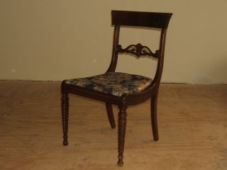 Handcrafted Chair 35 - In X 20 - In X 19 - In Dark Stain/multicolor Vintage Wood Uphol photo