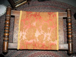 Antique Wooden Bench Carved Barley Twist Style photo