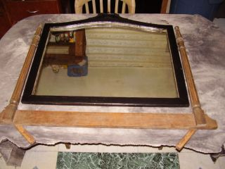 Large Antique Mirror For Dresser With Bracket.  Fc - Gc. photo