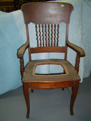 3 Matching Oak Formal D R Chairs - Early 1900 ' S - 1 Arm & 2 Straight - Twisted photo
