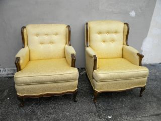 Pair Of French Large His And Hers Carved Side By Side Chairs 1848 photo