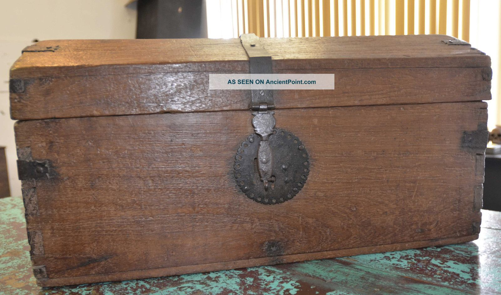 Antique Spanish Colonial Wooden Chest 1770 ' S Pre-1800 photo