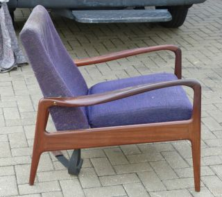 Greaves And Thomas Danish Style Design Afromosa Vintage Retro Pair Armchairs photo