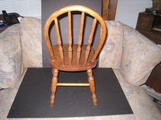 Vintage Child ' S Wooden Chair photo