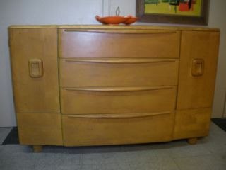 1950 ' S Heywood Wakefield Credenza Buffet Modern Mid Century Retro With Drawers photo