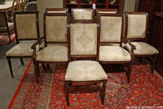 Set Of 8 Custom Regency Style Dining Chairs photo