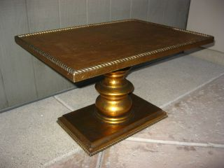 Vintage Italian Style Gold Gilt Key Table Coffee Table Corner Table French photo