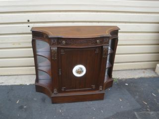 48324 Antique Mahogany Buffet Server Cabinet Quality photo