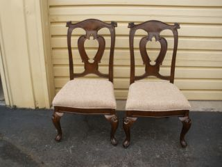 47953 Pair Carved French Country Chairs Chair S photo