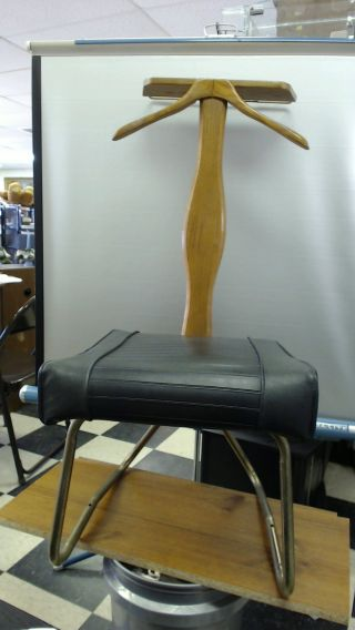 Vintage 1966 Setwell Valet Chair Traverse City,  Mi Butler Dressing photo