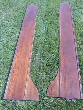 Pair Of 1890 ' S Victorian Side Rails For photo