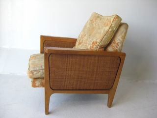 Mid Century Modern Caned Club Chair Vintage Lounge Retro Relax In Style Danish photo