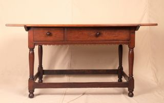 18th Century American Chippendale Antique Pub Tavern Dining Table,  Pennsylvania photo