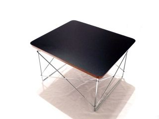 Black Low Table Rod Wire Base Side Table Modern Eam Es photo