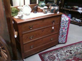 Oak 3 Drawer Dresser photo